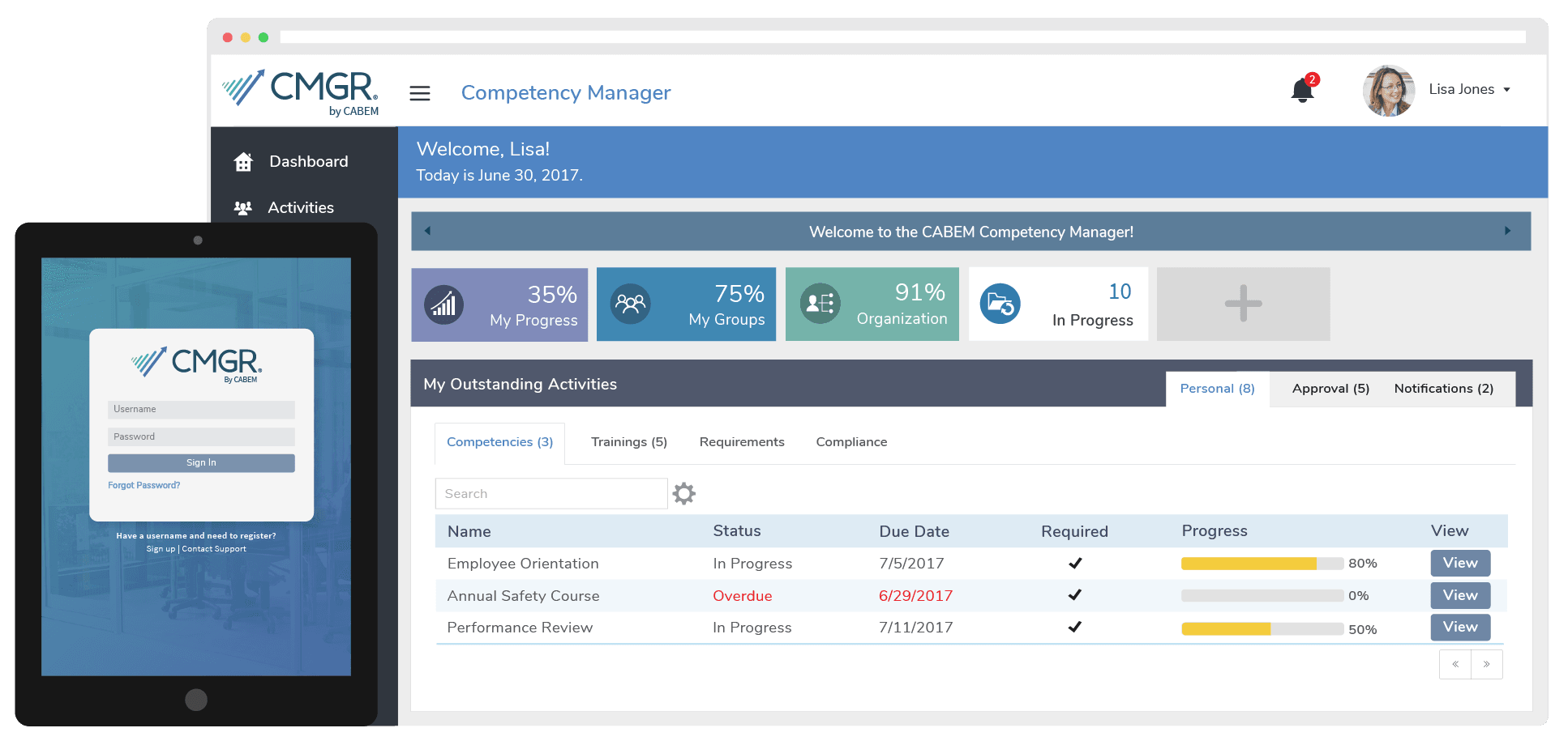 compency manager example